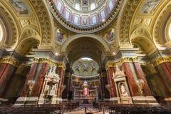 Interior of St. Stephen's Basilica, Budapest, Hungary Stock Image