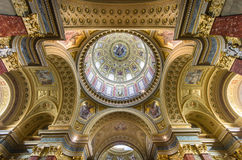 Interior of St. Stephen's Basilica, Budapest, Hungary Stock Images