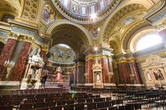 Interior of St. Stephen's Basilica, Budapest, Hungary Stock Photography