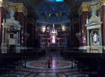Interior of St Stephen`s Basilica. Interior of Saint Stephen`s / Istvan Basilica in Budapest, Hungary Stock Image