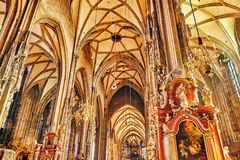 Interior St. Stephen's Cathedral(Stephansdom) Royalty Free Stock Photos