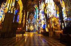 Interior of St. Stephen's Cathedral.  Vienna Stock Photography