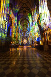 Interior of St. Stephen's Cathedral.  Vienna Stock Image