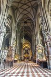 Interior of St. Stephen`s Cathedral, Vienna, Austria royalty free stock image