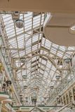 Interior of the St stephen`s green shopping centre in Dublin cit. DUBLIN, IRELAND - April 12th, 2018: interior of the St stephen`s green shopping centre in Royalty Free Stock Photography