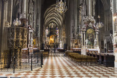 Interior of St. Stephens Cathedral in Vienna Stock Photography
