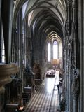Interior of St. Stephens cathedral in Vienna Stock Image
