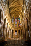 Interior of St. Vitus Cathedral. Inside of St. Vitus Cathedral, Prague, Czech Republic Royalty Free Stock Image