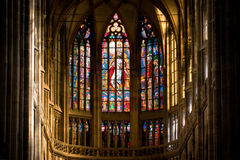 Interior of St. Vitus Cathedral. Inside of St. Vitus Cathedral, Prague, Czech Republic Stock Image