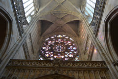 Interior of St. Vitus cathedral Stock Photo