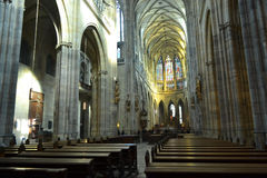 Interior of St. Vitus cathedral Royalty Free Stock Images