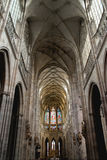 Interior of St. Vitus Cathedral in Prague Stock Photography