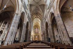 Interior of St. Vitus Cathedral, Prague, Czech Republic. Stock Images