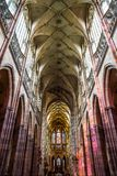 Interior of St. Vitus Cathedral in Prague Royalty Free Stock Photos