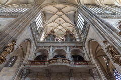 Interior of the St. Vitus, Wenceslaus and Adalbert Cathedral, Prague royalty free stock image