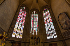 Interior of the St. Vitus, Wenceslaus and Adalbert Cathedral, Prague royalty free stock image