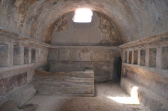 Interior of Stabian baths (Terme Stabiane), Pompeii Stock Photography
