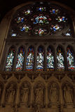 Interior stained glass windows of  St Colman's Cathedral Royalty Free Stock Photo