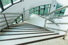 Interior stair. Modern interior stair in new building Royalty Free Stock Images
