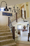 Interior Staircase. A view of a beautiful interior staircase in a luxurious house royalty free stock photography