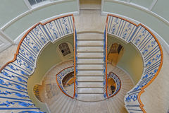 Interior staircase. Image taken of the nelson stair built by sir william chambers, somerset house, London, england stock photo