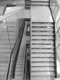 Interior staircase in modern building stock image