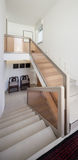 Interior, staircase and white walls Stock Image