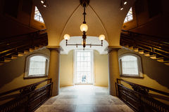 Interior staircases in the Smithsonian American Art Museum, in W Royalty Free Stock Photos