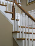 Interior stairs. A close up of interior staircase showing details Royalty Free Stock Image