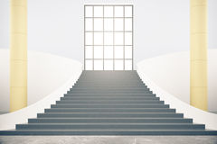 Interior with stairs Royalty Free Stock Photos