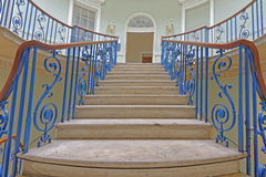 Interior stairs. Image taken of the nelson stair built by sir william chambers, somerset house, London, england royalty free stock image