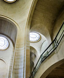 The interior stairway between the floors in the Louvre. Stock Image