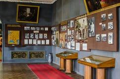 Interior of Stalin museum and birthplace in Gori, Georgia stock image