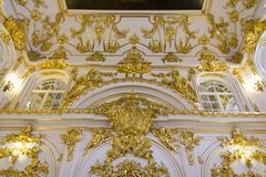 Interior of the State Hermitage, a museum of art and culture in Saint Petersburg, Russia Royalty Free Stock Image