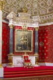 Interior of the State Hermitage, a museum of art and culture in Saint Petersburg, Russia Stock Photography