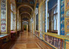 Interior of State Hermitage. Saint Petersburg Stock Image