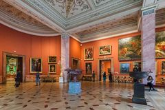 Interior of State Hermitage in St.Petersburg, Russia stock image