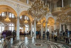 Interior of State Hermitage (Winter Palace), St.Petersburg, Russ Royalty Free Stock Image