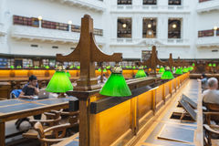 Interior of State Library Melbourne, Australia. Royalty Free Stock Photo