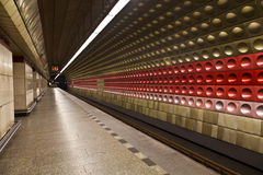 The interior of the station Staromestska of Prague metro Royalty Free Stock Images