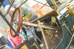 Interior of steam car. Stock Photo