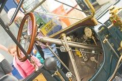 Interior of steam car. Stock Photo