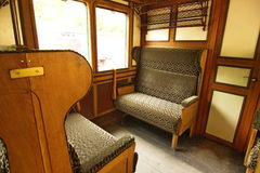 Interior of steam train Stock Images