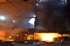 Interior of the steel foundry Stock Image