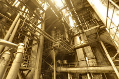 Interior of steel mill Royalty Free Stock Image