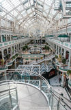 Interior Stephen's Green Shopping Centre with transparent roof Royalty Free Stock Images