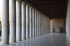 Interior Stoa of Attalos Stock Photography