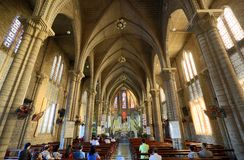 Interior of Stone Church. Nha Trang, Vietnam Royalty Free Stock Photo
