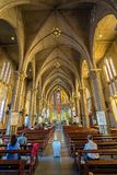 Interior of Stone Church. Nha Trang, Vietnam Royalty Free Stock Photos