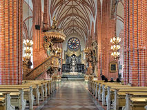 Interior of Storkyrkan (The Great Church) in Stockholm, Sweden Royalty Free Stock Photos